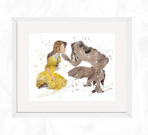 Tarzan and Jane Prints, Tarzan Watercolor, Nursery Wall Poster, Holiday Gift, Kids and Children Artworks, Digital Illustration Art ()