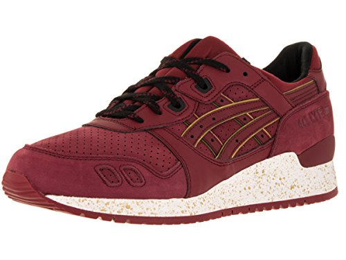 asics Men Gel-Lyte III Burgundy/Burgundy Running Shoe 8.5 Men US