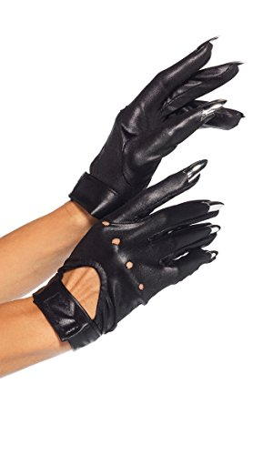 Leg Avenue Claw Motorcycle Gloves Costume Accessory - One Size