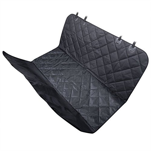 Dog Seat Cover IdealHouse 58 x 54 Inch Black Waterproof Non Slip Backing Pet Hammock Rear Seat Protector Pad Mat for Travel Car Truck SUV Review