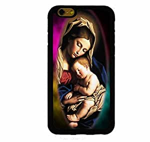 Virgin Mary & Child Color Frame iPhone 6 (4.7 inch screen) Rubber Case