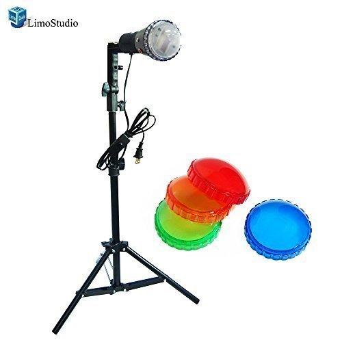 4 Color Gels (LimoStudio Photography Photo Studio Backlight Slave Strobe Flash Stand Lighting Kit with 4 Color Gel Flash Filters,)