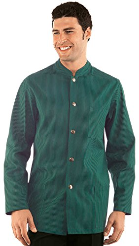 Mao Coton 100 Vert Col Noir Homme Veste Coreana Isacco Rayé xaqPRwBw