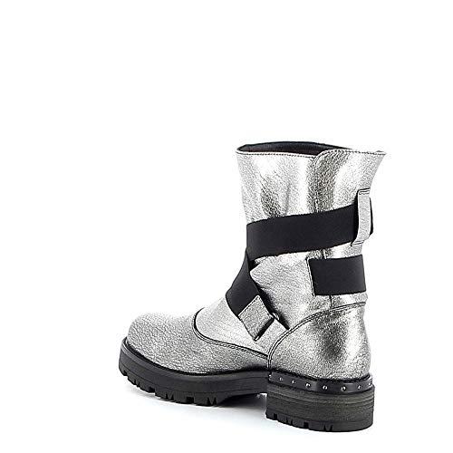 Boots Élastiques Tiffi Cuir En Gris dpwqw6t