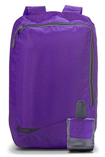 Onda 18L Small Packable Day Pack Backpack for Men Women & Kids| Ultralight Collapsible Outdoor Daypack for Backpacking, Hiking, Camping| Light Carry-on Travel Accessory| School Bag for Laptop (Violet)