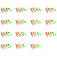 15 x Quantity of 3D Flying FY8012 Transparent Clear Green and Orange Propeller Blades Props Rotor Set 55mm Factory Units