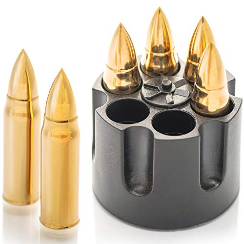 Whiskey Stones Bullets with Base...