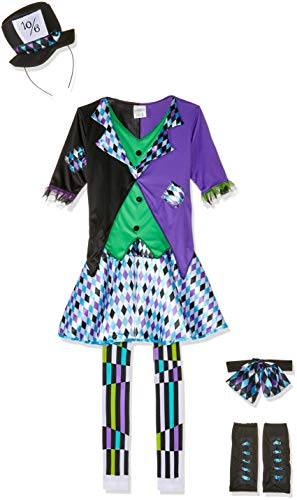 Fun World Women's Mad Hatter Costume, Multi, Small/Medium -