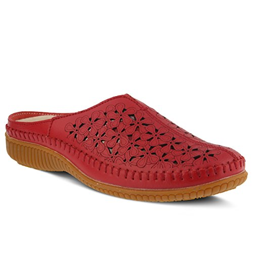 Red Parre Style Step Women's Spring Leather Clog zAqYWxw