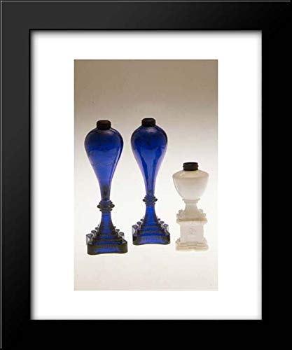 New England Glass Company - 15x18 Framed Museum Art Print- Whale Oil Lamp