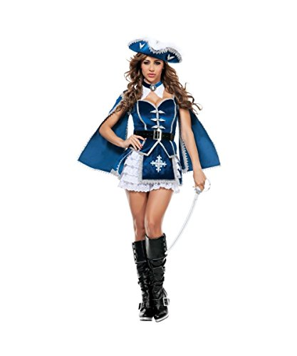 [All for You Musketeer Adult Womens Costume] (Womens Three Musketeers Costumes)