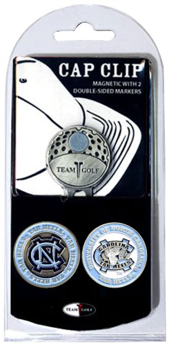 - Team Golf NCAA North Carolina Tar Heels Golf Cap Clip with 2 Removable Double-Sided Enamel Magnetic Ball Markers, Attaches Easily to Hats