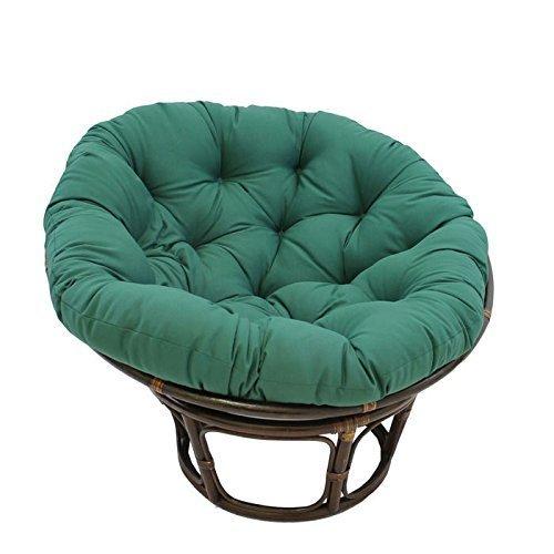 International Caravan 3312-TW-FG-IC Furniture Piece 42-inch Rattan Papasan Chair with Solid Twill Cushion by International Caravan