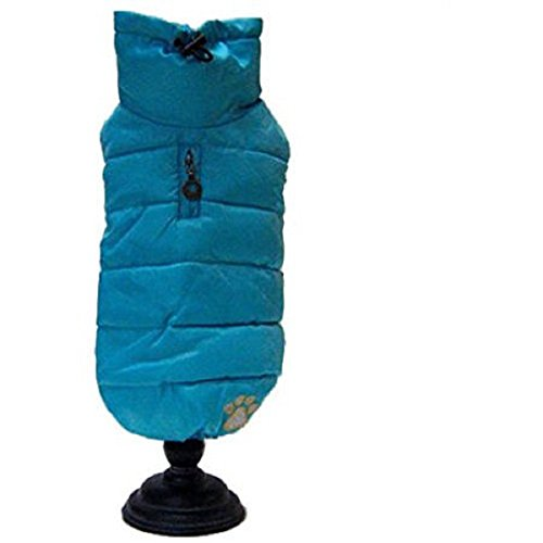 Alpha Dog Series Puffy Parka Vest Teal, Green by Alpha Dog Series