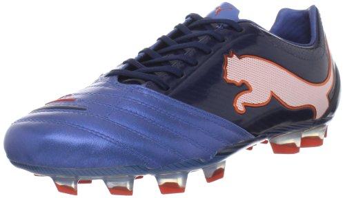Puma Mens Powercat 1,12 Fg Fotboll Cleat Metalliska Blå / Svart Iris / Vit