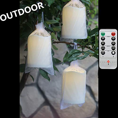 Outdoor Lighted Plastic Candles in US - 3