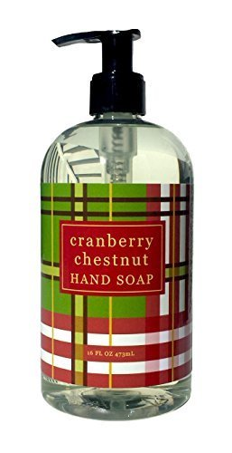 Greenwich Bay CRANBERRY CHESTNUT Hand Soap with Shea Butter, Cranberry and Chestnut Oil 16oz ()