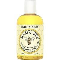 Burt's Bees Aceite corporal nutritivo 100% natural de Mamá Abeja - Botella de 4 onzas