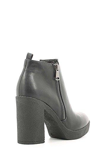 CAFèNOIR CAF NOIR GB915 schwarze Stiefel Frauen Buchse zip Plateaus Nero