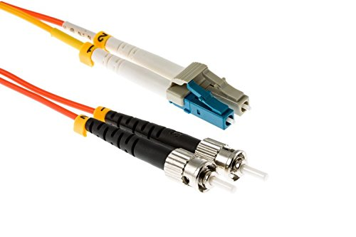 Cable Optic Patch Fiber Conditioning (LC to ST Mode Conditioning 62.5/125 OM1 Fiber Patch Cable, 5 Meters)