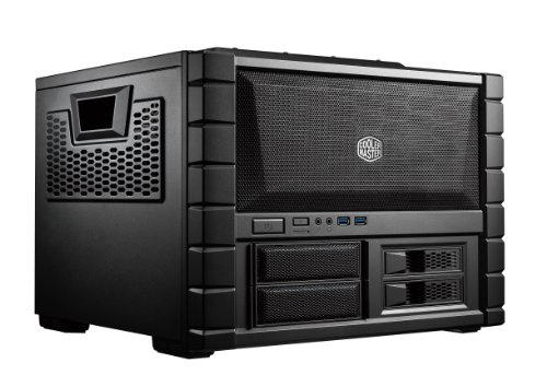 Cooler Master HAF XB EVO (HAF XB Rev. 2) - High Air Flow Cube Style ATX Computer Case with Removable Drive Cages and Dual 120mm XtraFlo Fans by Cooler Master