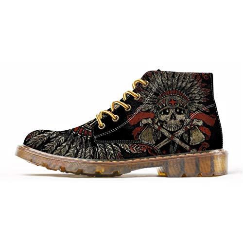 Martins Primavera Caviglia Uomo Uomo Mens Stivale Stile Qianliuk Oxfords alla Moda 4 Scarpe Scarpe per q8vtWHYA