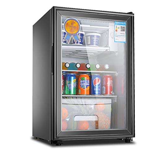 refrigerator Single Door 50/90L Capacity Energy Saving Mute with Lock Food Sample Display Refrigerated and Frozen Storage Cabinet Household