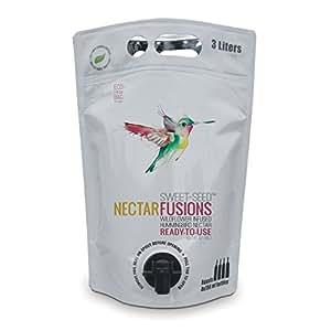 Nectar Fusions Hummingbird Food: All-natural & Dye Free, Wildflower Infused Hummingbird Nectar (100 oz. Ready-to-use Formula)