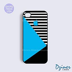 iPhone 5c Case - Blue Black White Geometric iPhone Cover by Maris's Diary