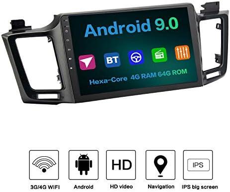 Dasaita 10.2 Android 9.0 Car Radio Built-in Carplay Audio Stereo for Toyota Rav 4 2015 2016 2017 2018 Bluetooth GPS Navigation Multimedia Music Video Player 4G 64G HDMI IPS Screen DSP Fast Boot