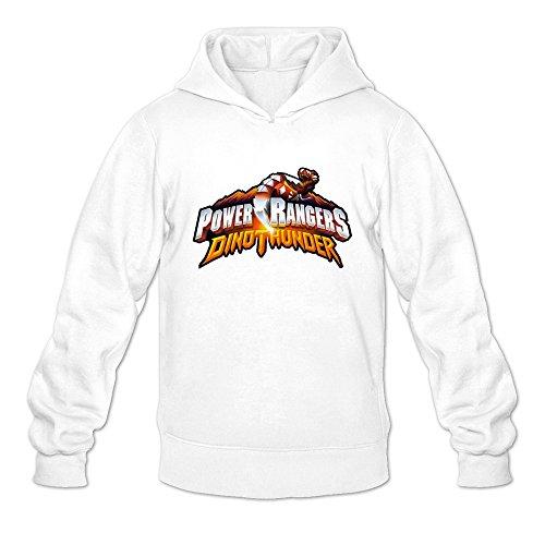 Male Power Rangers Dino Thunder Logo Custom Cool Size XXL Color White Sweatshirts By Mjensen