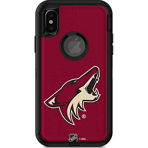 Skinit NHL Arizona Coyotes OtterBox Defender iPhone X Skin - Phoenix Coyotes Solid Background Design - Ultra Thin, Lightweight Vinyl Decal Protection