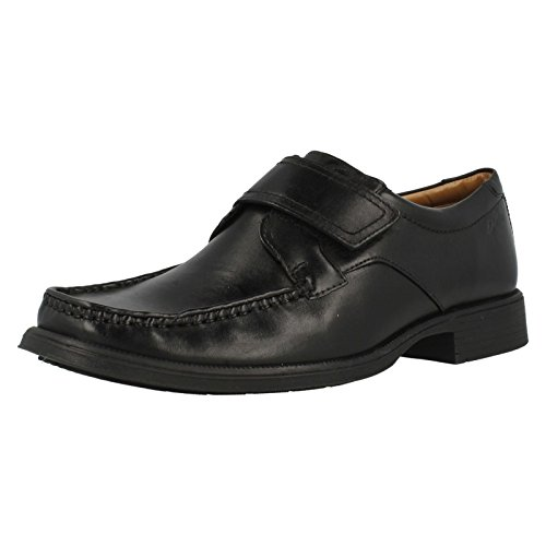 Clarks Huckley Roll Black Leather negro
