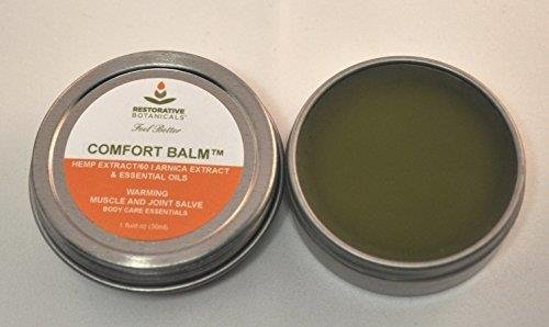 Comfort-Balm-Hemp-Oil-Extract-Salve-60-mg-FAST-Muscle-Joint-Relief-1-ounce-Hemp-and-Arnica-oil-Salve-Restorative-Botanicals