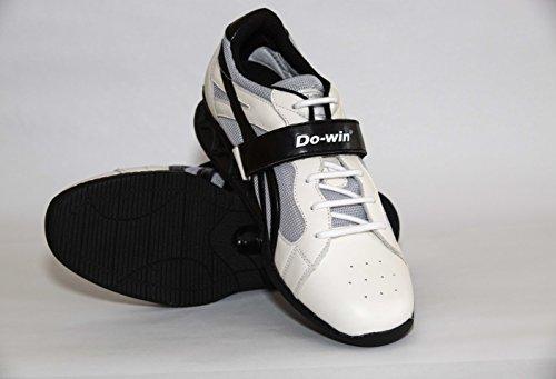 Do-win, Chaussures D'haltérophilie Gong Lu 3 (power), Blanc / Noir, Tailles 36.5-50.5