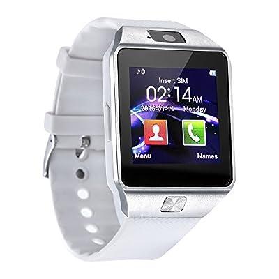 DZ09 Bluetooth Smart Watch - WJPILIS Smart Wrist Watch Smartwatch Phone Fitness Tracker SIM Card Slot Camera Pedometer Compatible iOS iPhone Android Samsung Phones Women Kids Men