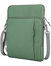 """Dadanism 13.3 Inch Tablet Sleeve Shoulder Bag for New iPad Pro 12.9"""" 2018-2021, Protective Waterproof Pouch Case for Samsung Galaxy Tab S7+, 12.3"""" Surface Pro 7/6/5/4, MacBook Pro 13"""", Avocado Green"""