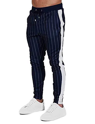 VonVonCo Fashion Mens Casual Loose Stripe Pocket Sweatpant Trousers Jogger Pant