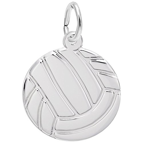 Charm 14k Volleyball Gold (Rembrandt Charms, Volleyball, 14K White Gold, Engravable)