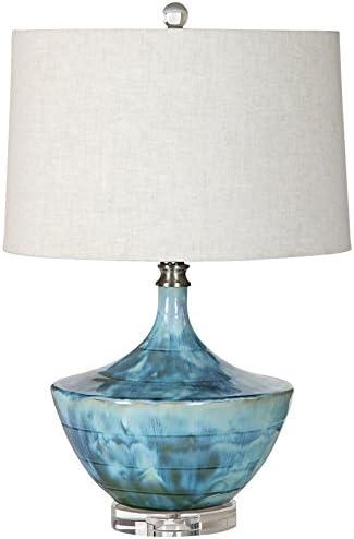 Uttermost 27059-1 Chasida Blue Ceramic Lamp
