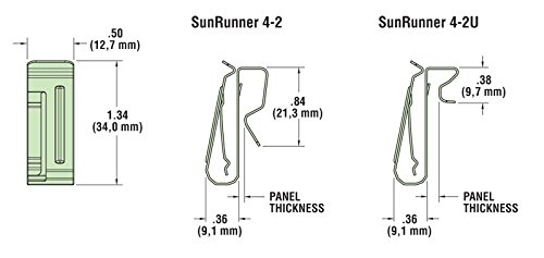 Heyco S6504 / S6544 - HEYClip Stainless Steel SunRunner 4-2 Cable Clip (Pack of 100) by Heyco HEYware