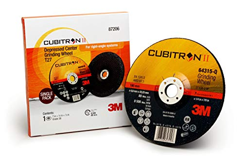 Cubitron II 87206 3M Depressed Center Grinding Wheel Trial Pack, T27 7