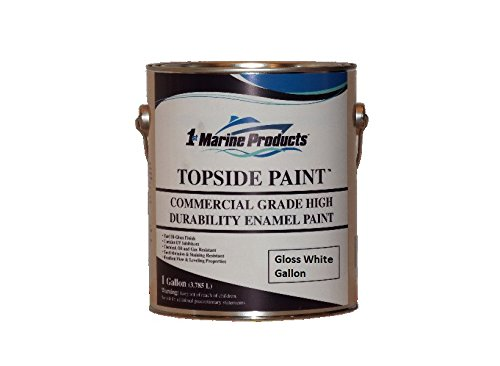 Topside Paint Gloss White Gallon Commercial Grade Enamel by US Marine Products LLC Top Side Marine Paint