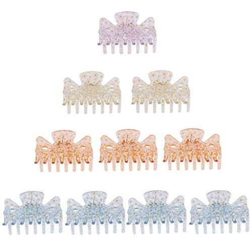 10pcs Clear Plastic Butterfly Style Hairpin Hair Claw Clip For Ladies 8cm
