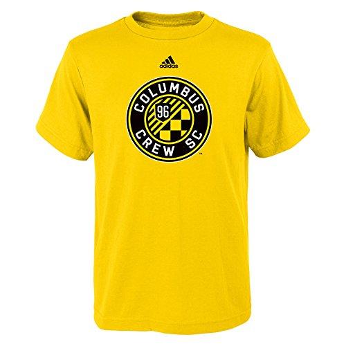 fan products of MLS Columbus Crew Boys 8-20 Primary Logo Short Sleeve Tee, Sun, Medium