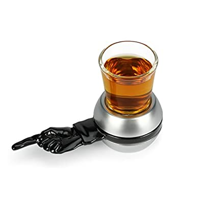 Barbuzzo Spin the Shot Retro – Fun Party Drinking Game, Includes 2 Ounce Shot Glass: Shot Glasses