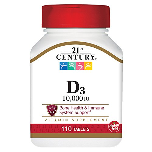21st Century D3 10,000 Iu Tablets, 110 - Tablet Vitamins 21st Century