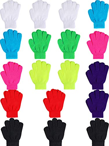 Childrens Gloves Magic (Sumind 18 Pairs Magic Winter Gloves Warm Knitted Gloves for Toddler Children Winter Gloves for 6 to 12 Kids (Multicolor))