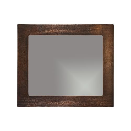 Premier Copper Products MFREC3631 36 in. Hand Hammered Rectangle Copper Mirror