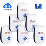 PHQ 2019 Pest Reject [6-Pack] Ultrasonic Rodent & Insect Repellent, Easy Plugin, Non-Toxic, Child & Pet Safe